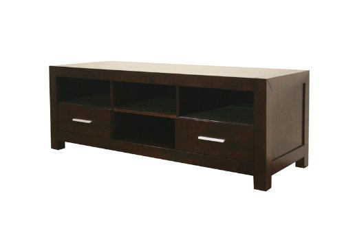 Image of Baxton Studio Robbin Dark Brown Wood Modern TV Stand (ROBBIN TV CABINET-107)