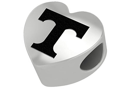 Tennessee Volunteers Sterling Silver Heart Bead Fits Most European Style Bracelets
