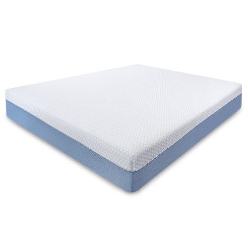Sensorpedic Continental Top 10-Inch Gel Memory Foam Mattress, Queen, White front-353551