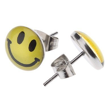 Happy-Face-Stainless-Steel-Earrings