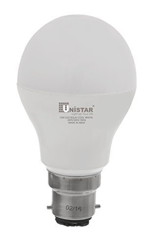 UNISTAR 12W B22 LED Bulb (Cool White)