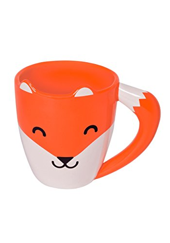 thumbs-up-fox-shaped-mug-orange-ceramic