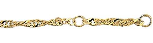 Damen Schmuck Gold Fußkettchen Singapur aus 333 Gelb Gold ( 25 cm ) ( 2,5 mm ) günstig bestellen
