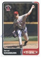 Jarrod Washburn Anaheim Angels 2003 Topps Total Autographed Hand Signed Trading Card. by Hall+of+Fame+Memorabilia