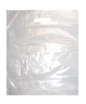 100-Tragetaschen-Taschen-Tten-Shopper-transparent-hochtransparent-LDPE-mit-Grifflochverstrkung-38-x-45-x-5-cm