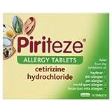 Piriteze Allergy Tablets Cetirizine Hydrochloride 3x12 Pack