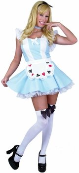 Adult Sexy Cards Alice In Wonderland Costume (Size: Small 5-7)