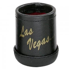 "Black Deluxe ""Welcome To Las Vegas"" Dice Cup with 5 Standard Dice"