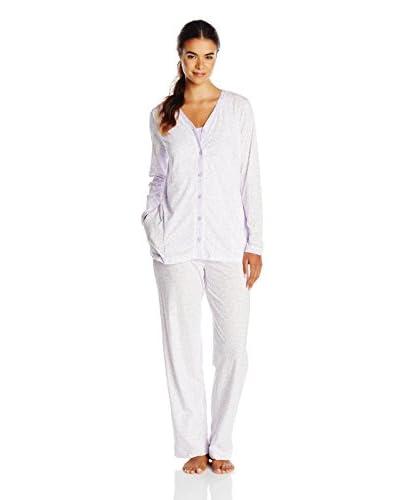 Carole Hochman Women's Tossed Meadow 3-Piece Pajama Set