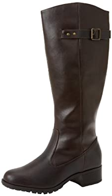 Rampage Women's Idaho Leather Knee High Boots in Cognac Size 5