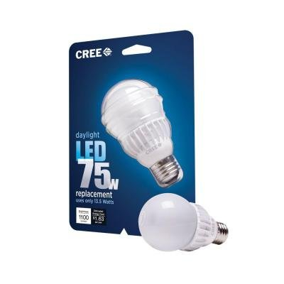 Cree 75W Equivalent Daylight (5000K) A19 Dimmable Led Light Bulb (6-Pack)