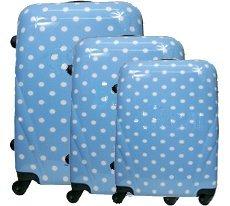 Polycarbonat Kofferset 3tlg mit ABS ligth blue