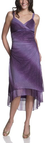 Ruby Rox Juniors' Glitter Ombre Sheer Matte Jersey Hi Lo Dress