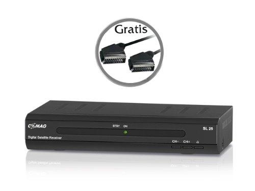 COMAG SL 25 digitaler Satelliten Receiver schwarz inkl. gratis Qualitäts-Scartkabel