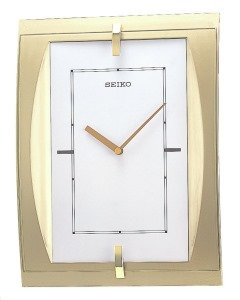 Seiko QXA 450G Quartz Wall Clock 33 x 25 cm Gold with battery (Seiko 450 compare prices)
