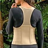 Cincher Women's Posture Back Brace Support Belt - Tan - Medium