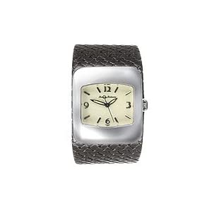 tommy bahama ladies watch black braided leather and sterling silver no tb2041
