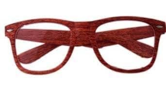 NERD Clear Brille WOOOOOOD