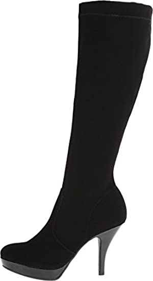 Kenneth Cole Unlisted Women's Group File Black Nubuck PU Boot 9 M