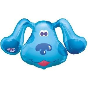 Toy / Game Super Charming Blues Clues Head Shape 25 Inch Mylar Balloon - Great For Boys Birthday Celebration front-988395