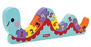 My First Counting Worm Puzzle 12 pcs. - Wooden Puzzle by Fisher Price (30632) - 1