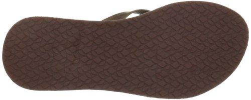 Reef Women's Girls Skinny Leather Flip Flop Sandal,Tobacco,8 M US
