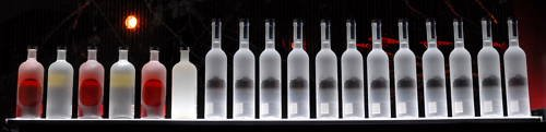 4' Changing Color Effects Lighted Bar Bottle Shelf - Led Powered