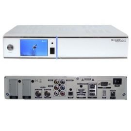 GigaBlue HD Quad PLUS weiss 2x DVB-S2 HDTV Linux HbbTV LAN Sat Receiver inkl. 1000 GB Festplatte