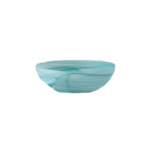 Shiraleah Large Turquoise Frosted Alabaster Shallow Round Bowl