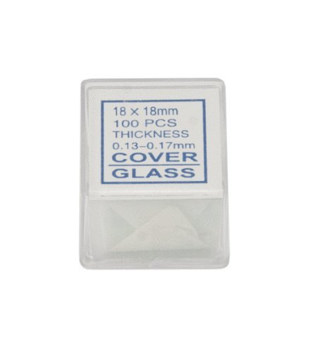 Gadgetworkz 100 Piece Square Microscope Slide Cover Slips (18X18Mm)