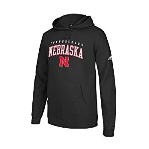 adidas Nebraska Cornhuskers Black 2013 Playbook Hooded Sweatshirt by adidas