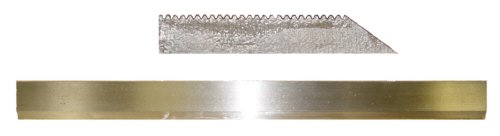 "Magnate Cs25514 Corrugated Back Moulder Knife, M2 High Speed Steel - 25"" Length; 1-3/4"" Width"