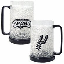 San Antonio Spurs Crystal Freezer Mugs - Set of 4