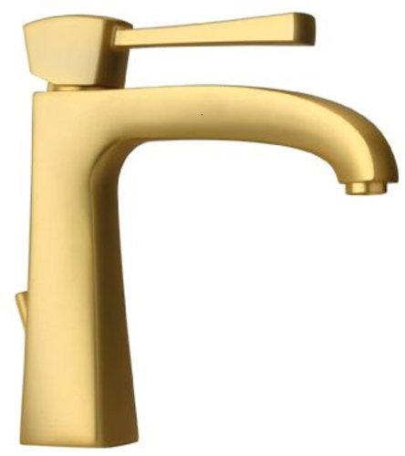 La Toscana 89OK211L Lady Tall Single Post Mount Lavatory Faucet with Pop-Up Drain, Satin Gold