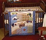 4 Piece Boys and Cars Crib Bedding Set
