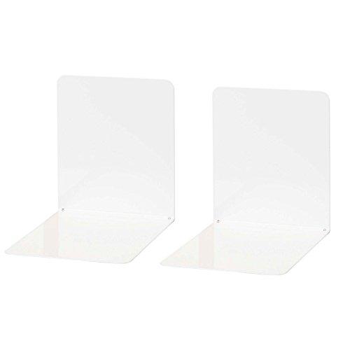 Wedo 1021100 Reggilibri in Metallo, Larghi, 14 x 12 x 14 cm, Bianco