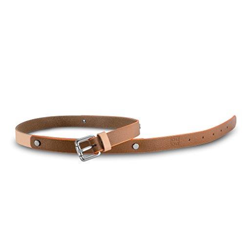 Cintura donna in pelle Saffiano Made in Italy con borchie DUDU Cuoio