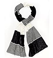 Per Una Variegated Striped Scarf