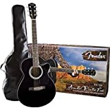 Fender FA-130 Acoustic-Electric Guitar Pack, Black