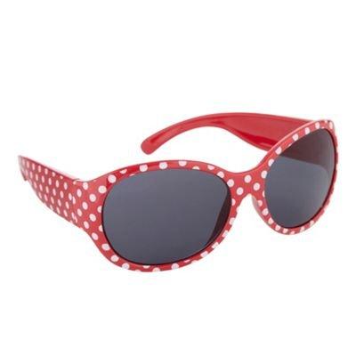 bluezoo-Girl's red polka dot sunglasses