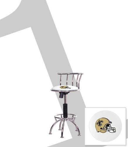 "New Orleans Saints Themed Adjustable Height 24""-29"" Chrome Metal Finish Swivel Seat Bar Stool! at Amazon.com"