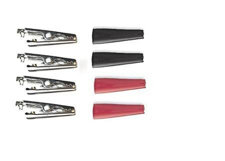 Steel Mini Alligator Clip Pack - Four Clips And Insulators With Double Sided Foam Tape