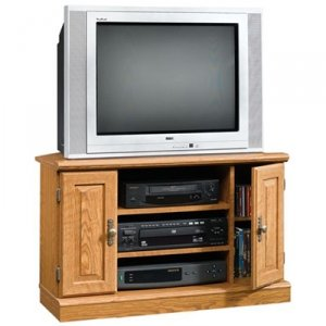 Sauder Orchard Hills Corner TV Stand, Carolina Oak finish (Entertainment Center Pine compare prices)