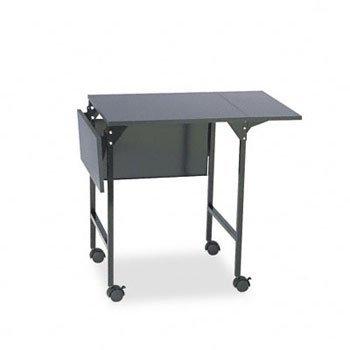 Safeco Mobile Machine Stand W/Drop Leaves, 2-Shelf, 36 X 18 X 26-3/4, Black, Ea - Saf1876Bl front-844670