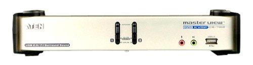 Master View switch KVM USB + DVI + audio, 2 ports