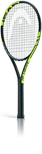 Head IG Heat - Racchetta da tennis, nero (nero/verde), Grip 4