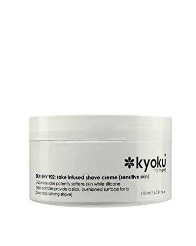 Kyoku Men's Sake Infused Shave Creme for Sensitive Skin, 6 fl. oz. As You See
