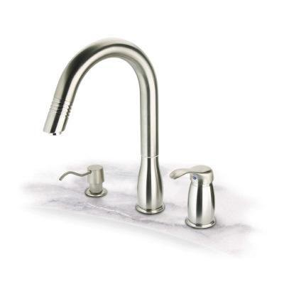 Pegasus Kitchen Faucet On Sale Hot Deals Pegasus Uspw492hd Gooseneck Pull Out Spray Kitchen Faucet Brushed Nickel For 125 00