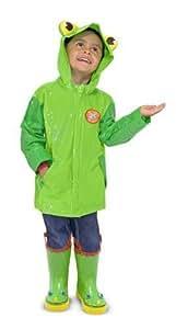 2 Item Bundle: Melissa & Doug 6297 Soggy Froggy Kids' Raincoat + Free Activity Book