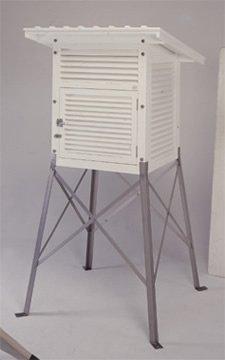 【送料無料】:百葉箱 H1-WT 木脚/単葉 :【気象用品】 :401-1001
